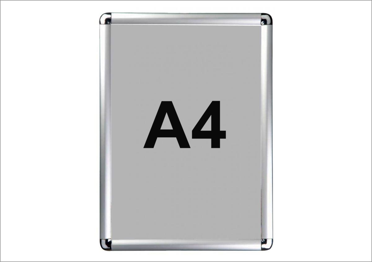 cadre aluminium clic clac format a4. Black Bedroom Furniture Sets. Home Design Ideas