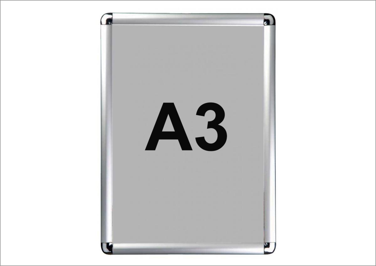 cadre aluminium clic clac format a3. Black Bedroom Furniture Sets. Home Design Ideas