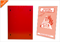 Pack Coffret Registre Incendie + Registre de sécurité ou d'intervention