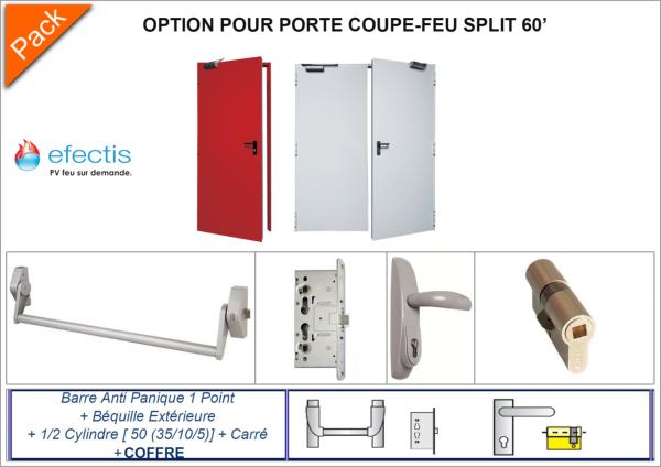 Accessoires porte coupe feu t l e 60 minutes split 60 for Pv porte coupe feu
